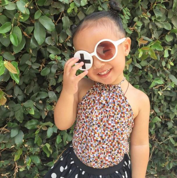 711d169b3fe6 sunglasses round sunglasses kids fashion instagram white kids children  fashion toddler