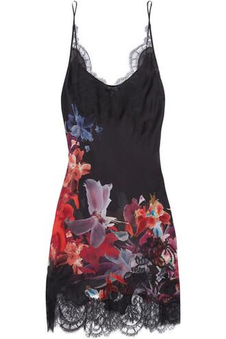 lace floral print silk satin burgundy underwear