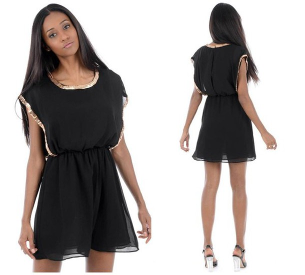 dress black black dress gold