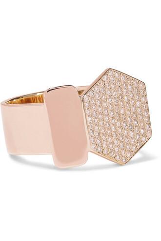 diamond ring rose gold rose ring gold yellow jewels