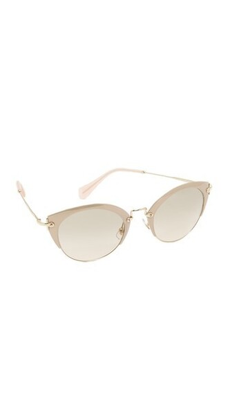 sunglasses gold pink brown