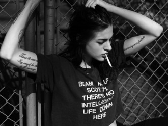 t-shirt frances bean cobain black nirvana