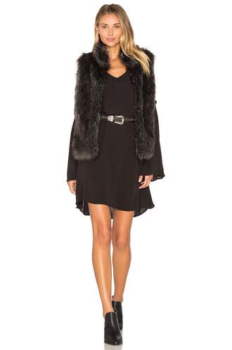 vest fur vest faux fur vest fur faux fur black jacket