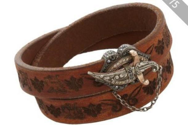 belt embellished diamonds metal