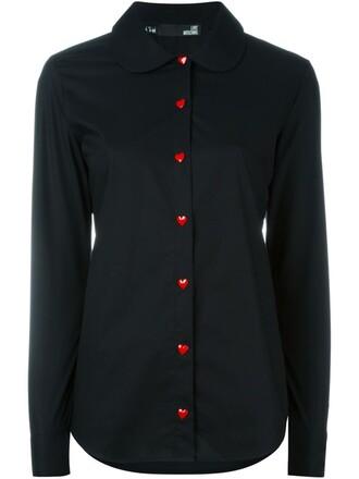 shirt heart black top
