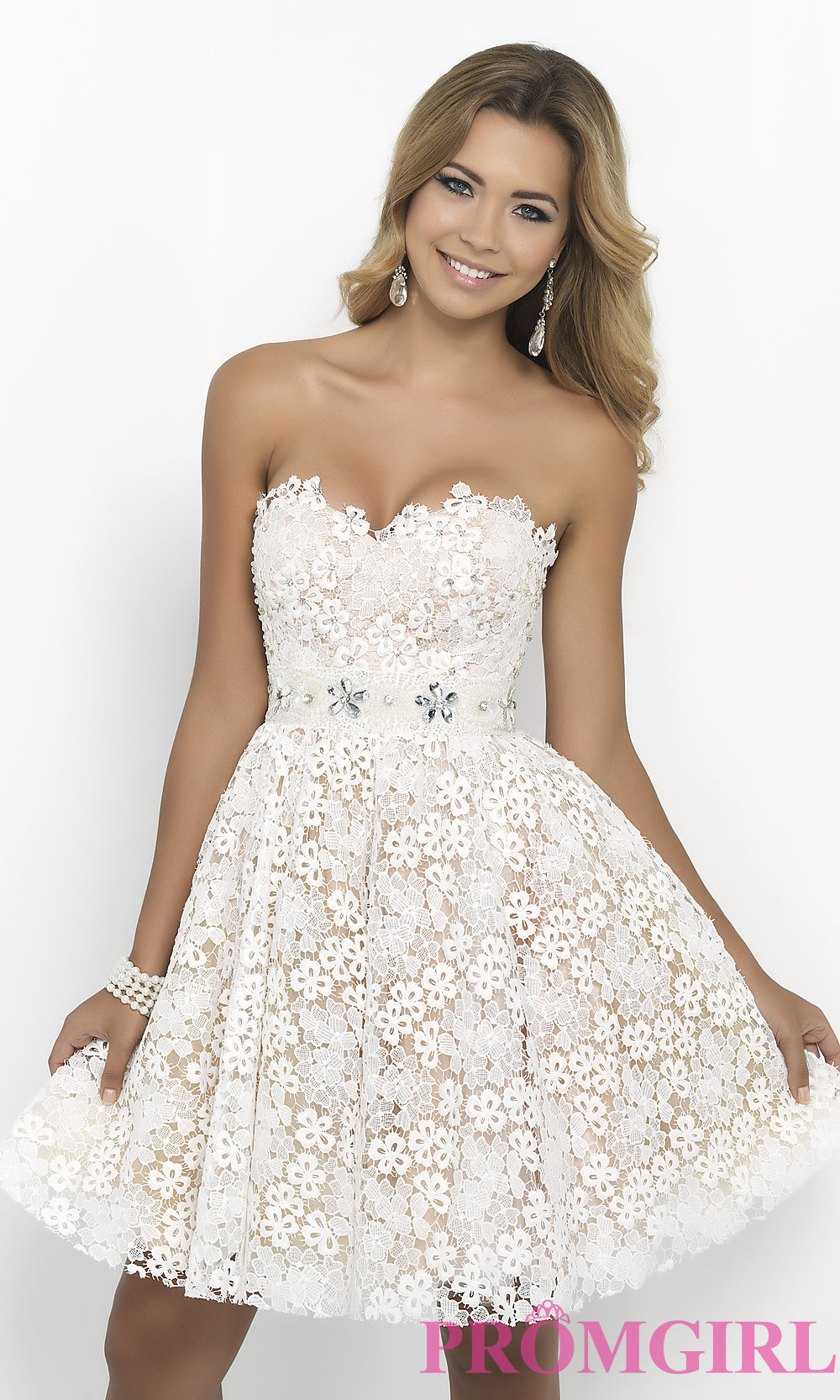 Strapless Sweetheart Lace Dress