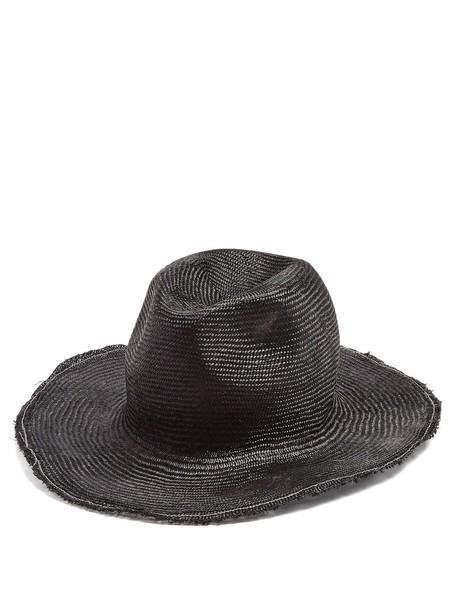 REINHARD PLANK HATS hat straw hat black