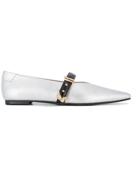 Reike Nen metallic women pumps leather grey shoes