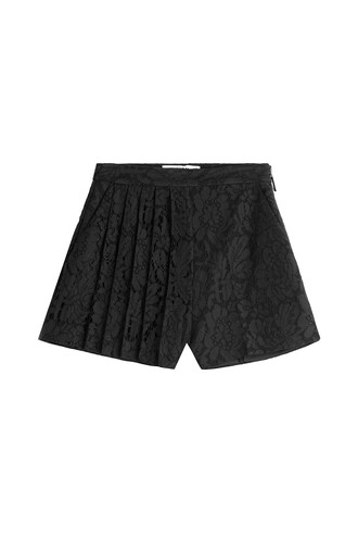 shorts lace shorts pleated lace black