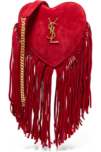 love bag shoulder bag suede red