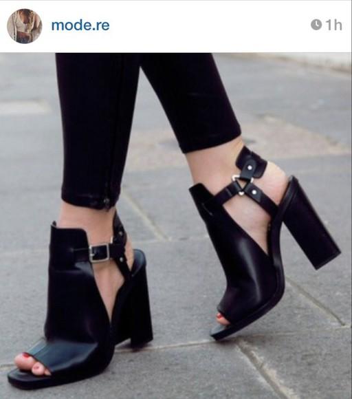sandals black heels high heels