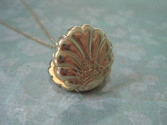 jewels necklace gold mermaid shell shell necklace gold jewelry cute delicate jewelry delicate neckace rose gold
