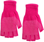 gloves,candy luxx,fingerless,mittern,spotted gloves,Pink gloves