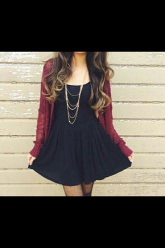 dress black dress classy beauty cardigan