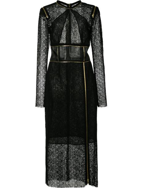 SOPHIE THEALLET dress lace dress zip women lace cotton black silk
