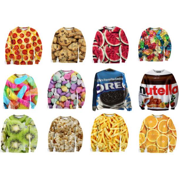 sweater foodsweaters food sweater cardigan coat