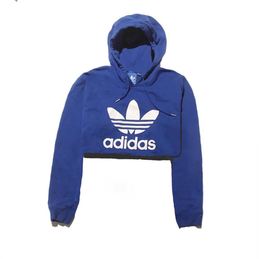 Adidas Hoodie Crop Top Medium