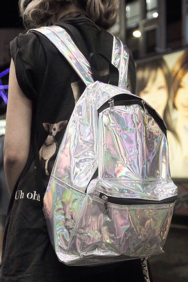 bag satchel love holographic tumblr backpack school
