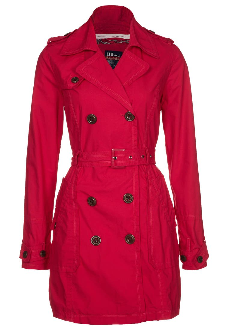 LTB PUCAL - Trenchcoat - raspberry - Zalando.de