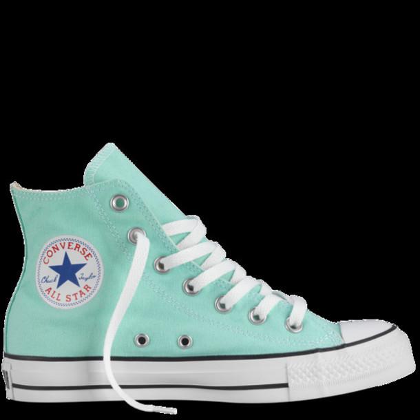mint green converse high tops Shop