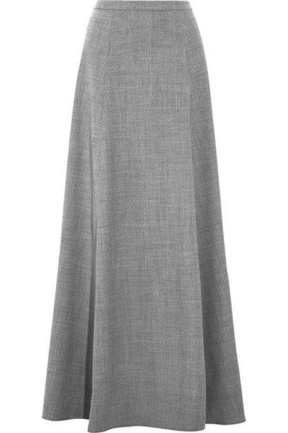 2bc6f96a7 J.Crew - Collection Adriana Wool-blend Flannel Maxi Skirt - Gray ...