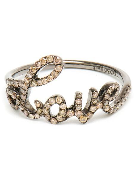 diamond ring women love ring gold brown jewels