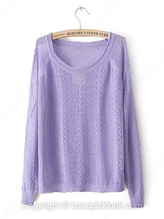 swimwear sweater cable knit jumper purple purple sweater lavender pullover