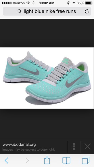 shoes mint nike running shoes light blue nike free run