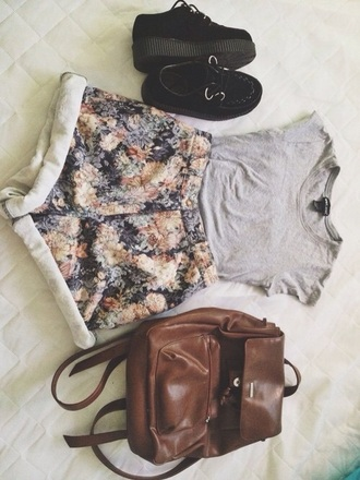 shorts hipster floral flowered shorts