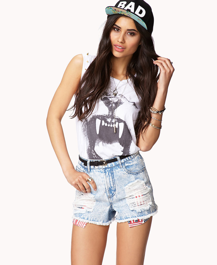 9289fc057f1 high waisted jeans shorts forever 21