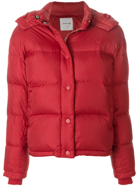 Wood Wood jacket puffer jacket women red