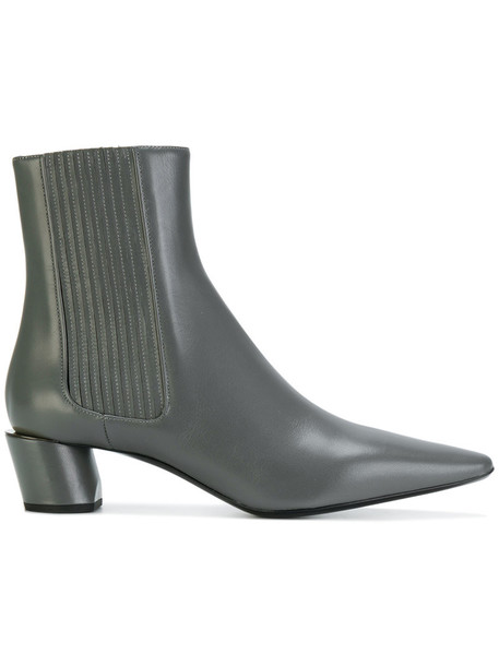 Jil Sander women ankle boots leather grey shoes