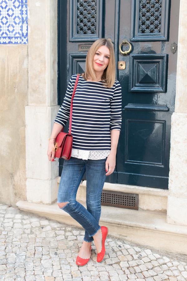 the working girl top jeans bag jewels petit bateau