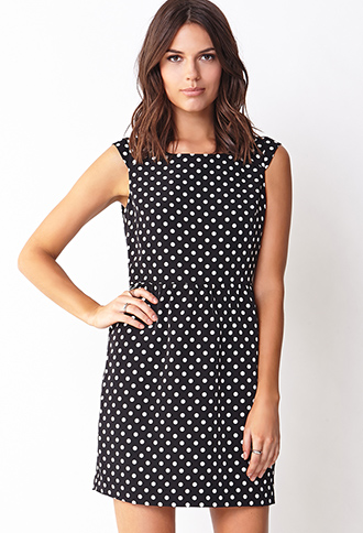 Mod Polka Dot Shift Dress | FOREVER21 - 2000090373