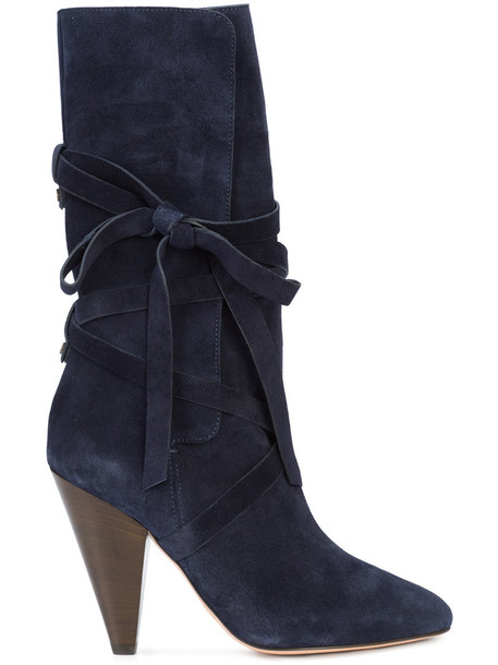 Veronica Beard women leather blue suede shoes