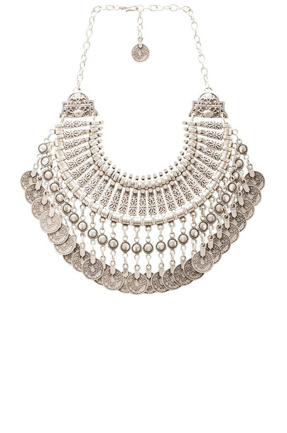 fit necklace metallic silver