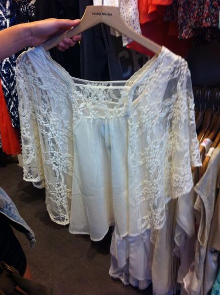blouse white blouse vero moda