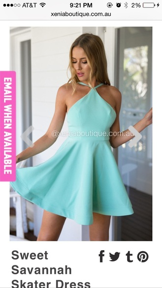 dress teal blue dress light blue high neck xenia