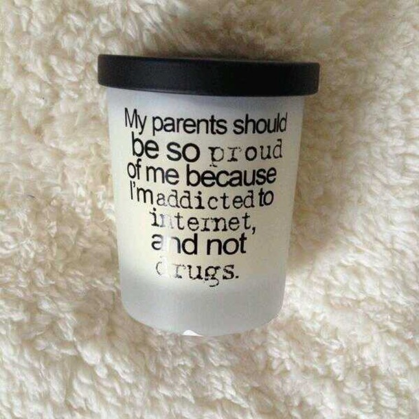 Internet Quote On It Black And White Bougie Fire Home Decor Candle Funny Quote On It