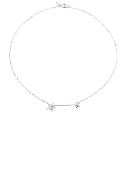 gorjana Super Star Necklace in metallic / silver