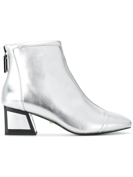 Kat Maconie women ankle boots leather grey metallic shoes