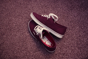 shoes,vans,burgundy