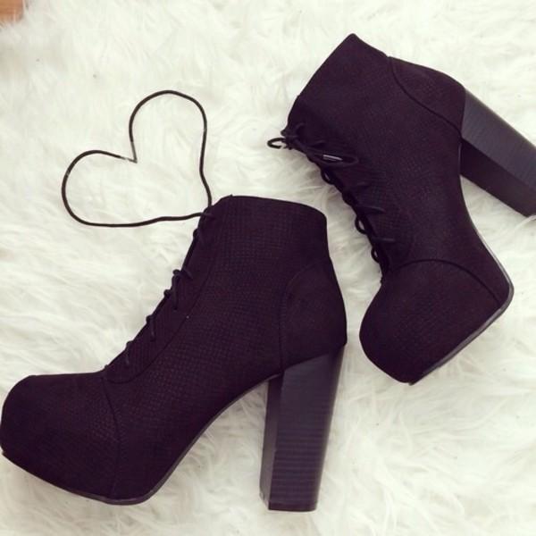 3494ba83bfe2 ZENA Black Platform Ankle Boots Shop Jeffrey Campbell Lita Inspired ...