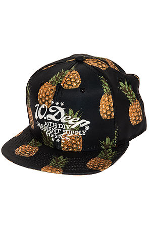 The 10 Deep Monticello 5 Panel Snapback in Navy Pinapple -  Karmaloop.com