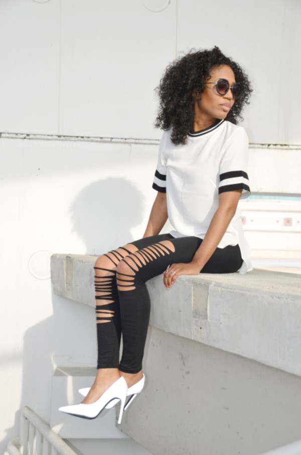 four one oh! leggings top shoes sunglasses