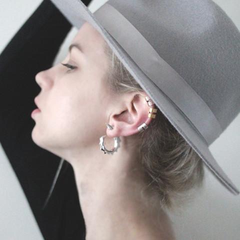 The 'Spike Jonze' Succulent Hoop Earring - Sterling Silver                           | Ford   Harris