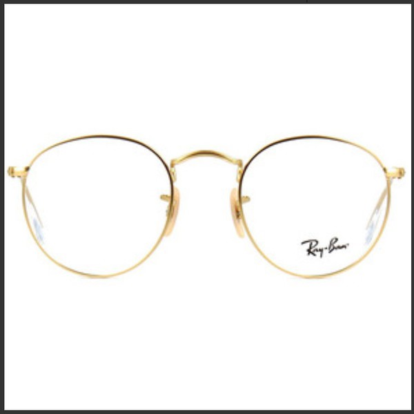 86c45ba8b Amazon.com: Outray Retro Round Metal Clear Lens Glasses 2136c2 Gold ...