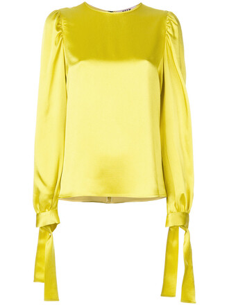 blouse women yellow orange top