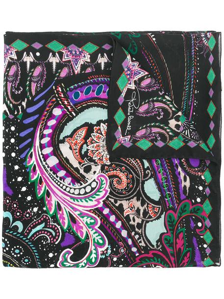 Roberto Cavalli women scarf black silk