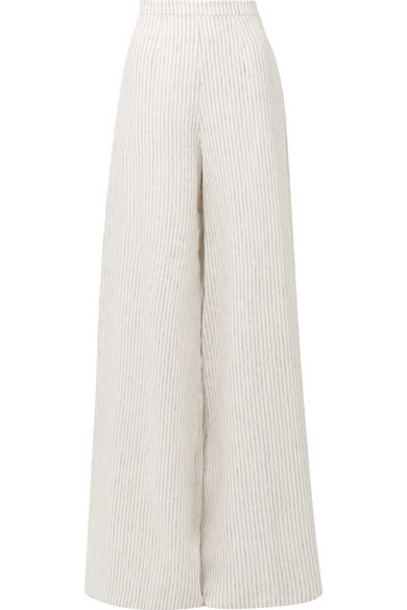 pants wide-leg pants white